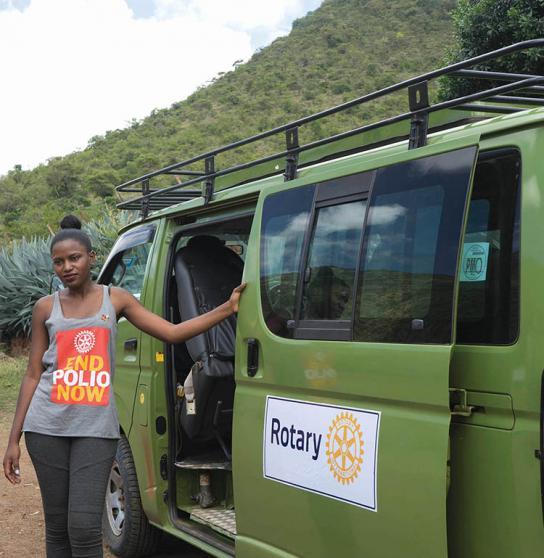 Segui i vaccinatori polio in Uganda