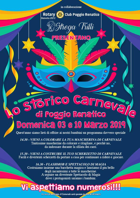 LO STORICO CARNEVALE POGGIO RENATICO – DOMENICA 03 E 10 MARZO, in collaborazione con Rotary Club Poggio Renatico