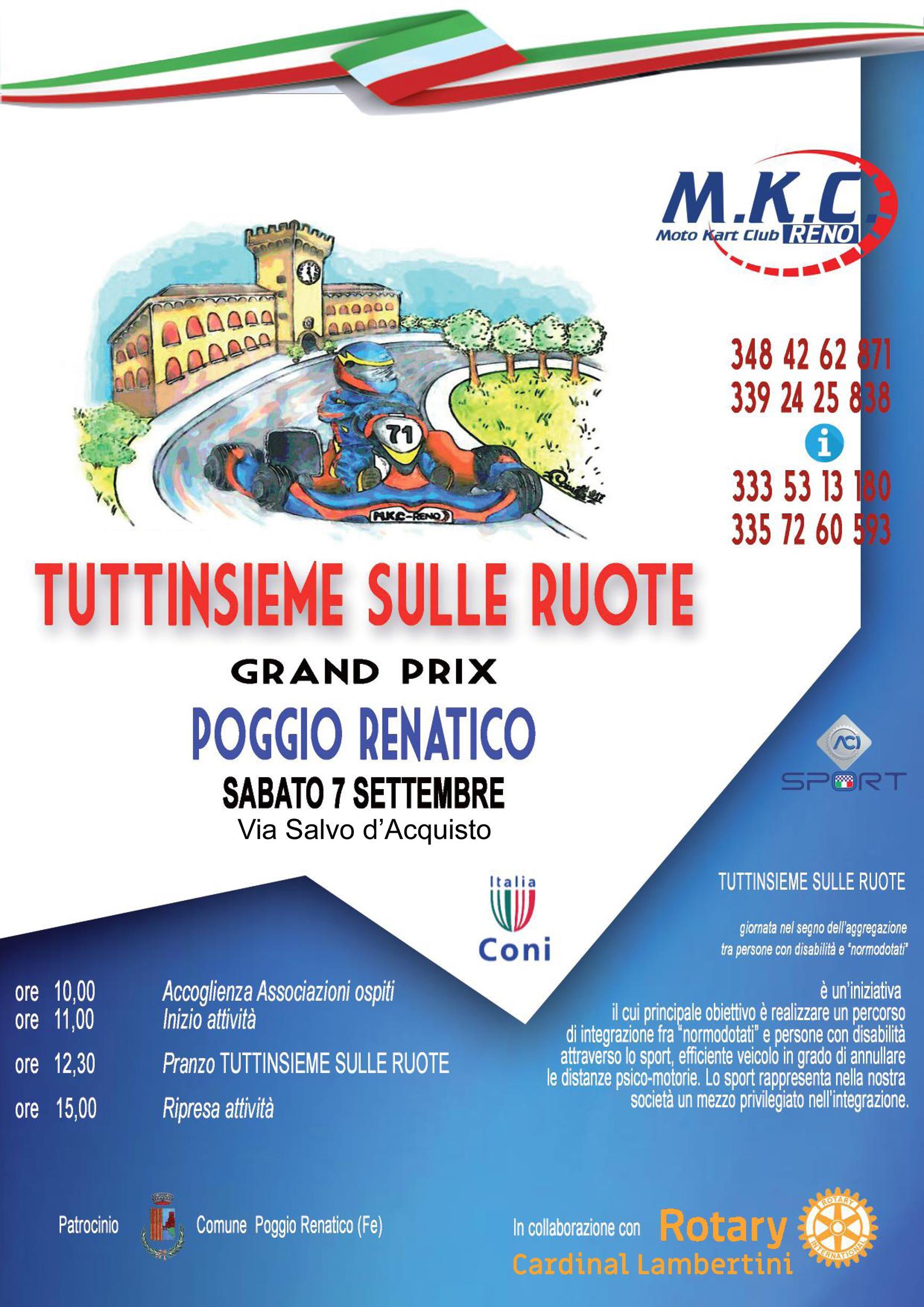 Programma Rotary Club Poggio Renatico – Cardinal Lambertini – SETTEMBRE 2019